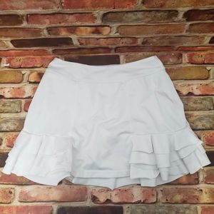 Zella White Ruffle Sport Skirt Size Small